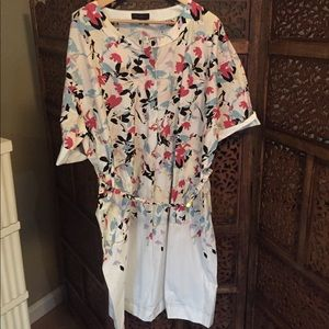NEW Donna Karan Shift Dress Floral XL